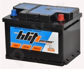 Akumuliatorius BLITZ 55Ah 600A