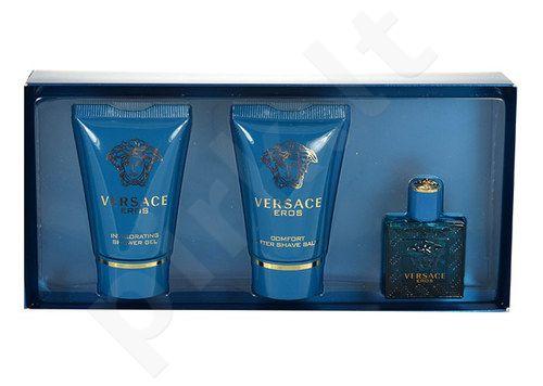 Versace Eros rinkinys vyrams, (EDT 5ml + 25ml dušo želė + 25ml losjonas po skutimosi)