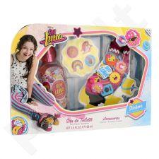 Disney Soy Luna rinkinys vaikams, (EDT 100 ml +  nėrinių papuošimai + lipdukai)
