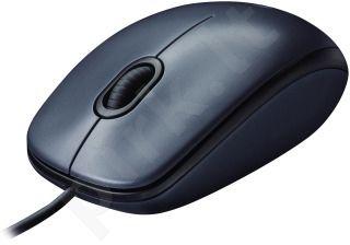 Pelė Logitech M100 USB Dark