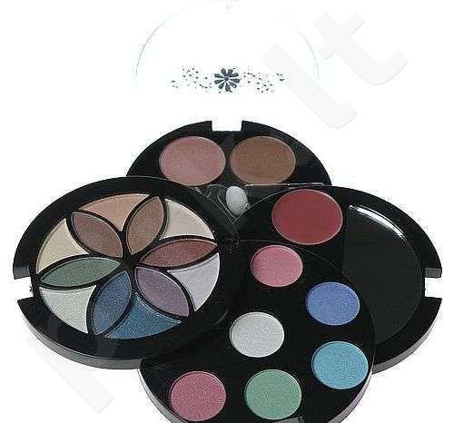 Makeup Trading (0.6g Lipgloss + 2.08g Blusher + 12.42g akių šešėliai) Fashion Flower Compact, rinkinys moterims