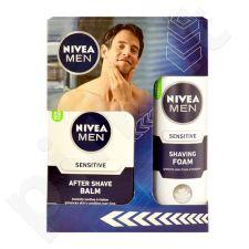 Nivea Men Sensitive Shave Care rinkinys vyrams, (100ml Men Sensitive losjonas po skutimosi + 200ml Men Sensitive skutimosi putos)