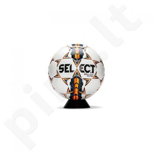 Futbolo kamuolys SELECT Brillant Super  FIFA balta-oranžinė