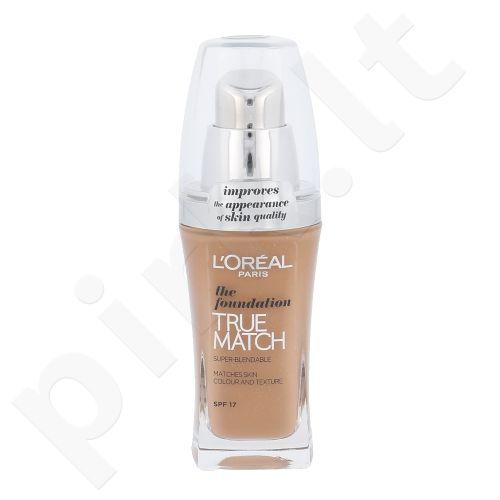 L´Oreal Paris True Match Super Blendable makiažo pagrindas SPF17, kosmetika moterims, 30ml, (W8 Golden Cappucino)