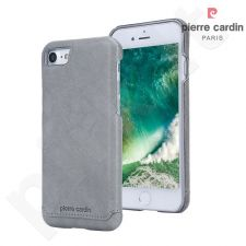 Leather back cover case, Pierre Cardin, grey (iPhone 7/8)