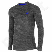 Marškinėliai longsleeve 4F M H4L19-TSML001 ciemny pilkas