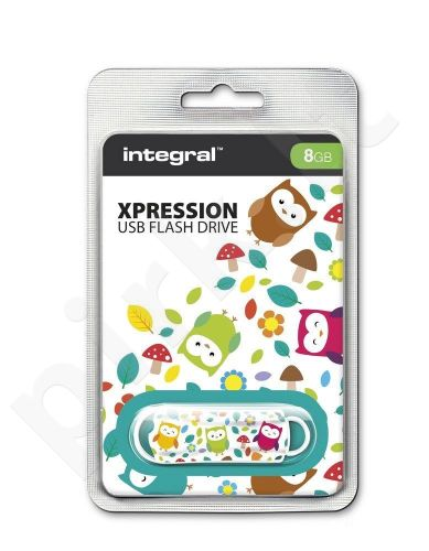 Atmintukas Integral Xpression Owls 8GB