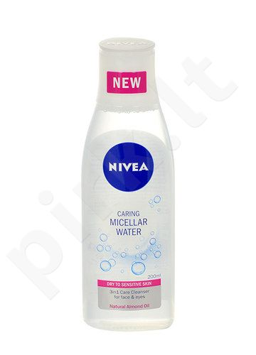 Nivea Caring Micellar Water Sensitive Skin, kosmetika moterims, 200ml