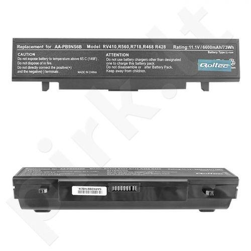 Qoltec Long Life Notebook Battery - SAMSUNG R580, 11.1 V | 6600 mAh