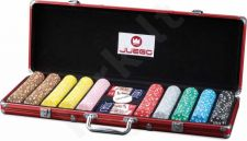 Pokerio žetonų rinkinys Juego Poker 500, 14g. su vertėmis