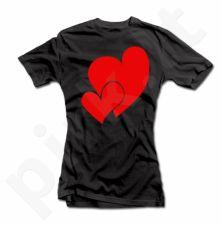 """Moteriški marškinėliai """"Širdelės"""""""