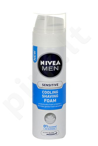 Nivea Men Sensitive Cooling skutimosi putos, kosmetika vyrams, 200ml