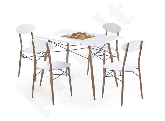 RECORD komplektas: stačiakampis stalas + 4 kėdės