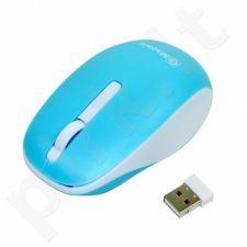 Bevielė optinė pelė Msonic MX707B 3D, 1000DPI, 2.4GHz, mėlynos ir balta