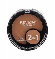 Revlon Colorstay, 2-In-1, makiažo pagrindas moterims, 12,3g, (240 Medium Beige)