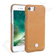 Leather back cover case with crystal, Pierre Cardin, camel (iPhone 7/8)