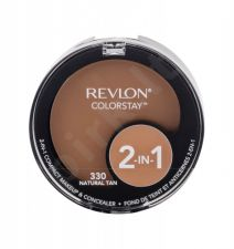 Revlon Colorstay, 2-In-1, makiažui moterims, 12,3g, (330 Natural Tan)