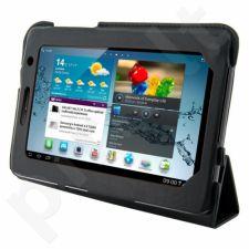4World dėklas-stovas skirtas Galaxy Tab 2, plonas, 7', 4-Fold Slim, juodas