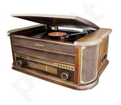 Retro stiliaus muzikinė sistema su patefonu Roadstar HIF-1902HP