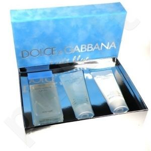 Dolce & Gabbana (EDT 100 ml + 100 ml kūno kremas + 100 ml dušo želė) Light Blue, rinkinys moterims