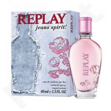 Replay Jeans Spirit! For Her, tualetinis vanduo moterims, 40ml