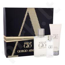 Giorgio Armani Acqua di Gio Pour Homme rinkinys vyrams, (EDT 100 ml + EDT 15 ml + dušo želė 75 ml)