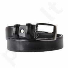 BREMI PS62 juodas odinis vyriškas diržas