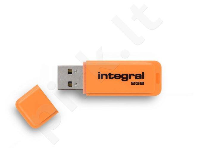 Atmintukas Integral Neon 8GB, Oranžinis