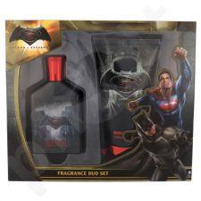 DC Comics Batman v Superman, rinkinys tualetinis vanduo vaikams, (EDT 75 ml + dušo želė 150 ml)