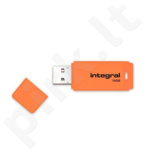Atmintukas Integral Neon 16GB, Oranžinis
