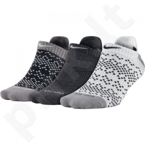 Kojinės Nike Dri-FIT Graphic No-Show Tab 3pak  W SX5086-901