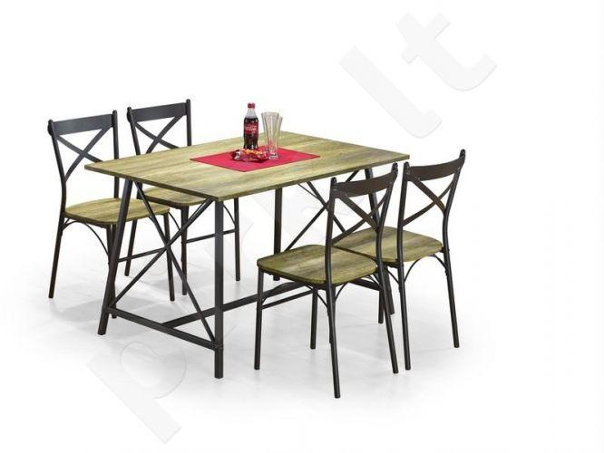 RELIANT komplektas: stačiakampis stalas + 4 kėdės