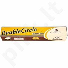 Stalo teniso kamuoliukai Double Circle 6 vnt. baltas