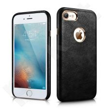 Back cover case with logo space, PU, black (iPhone 7/8)