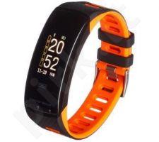Smartband, Išmanusis laikrodis Garett Fit 23 GPS Black-Orange