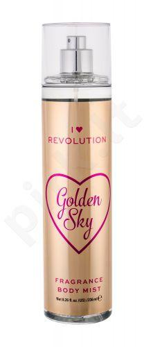 Makeup Revolution London I Heart Revolution, Golden Sky, kūno purškiklis moterims, 236ml