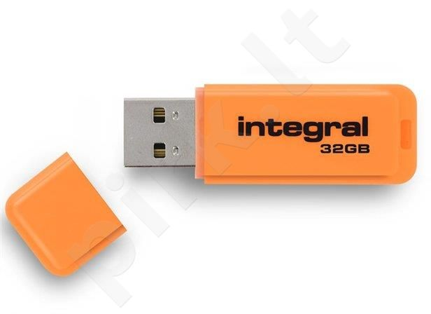 Atmintukas Integral Neon 32GB, Oranžinis