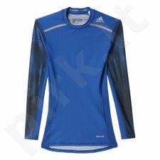 Marškinėliai treniruotėms ilgomis rankovėmis Adidas Techfit Chill Long Sleeve Tee M AJ4922