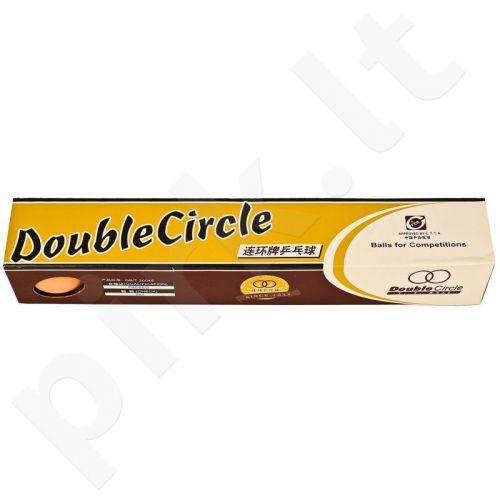 Stalo teniso kamuoliukai Double Circle 6 vnt.
