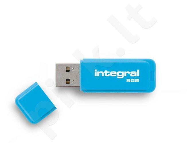 Atmintukas Integral Neon 8GB, Mėlynas