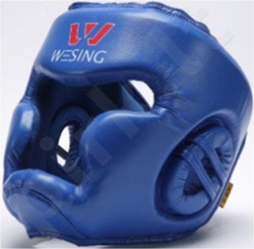 Bokso šalmas PU mėlynas XL uždaras