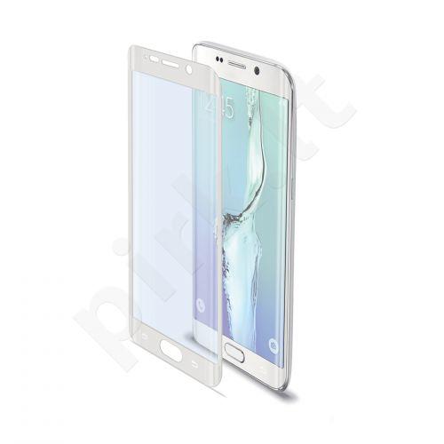 Samsung Galaxy S6 EDGE Pilno lenkimo stikliukas Celly baltas