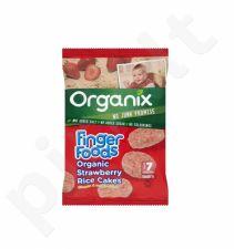 Ekologiški ryžių trapučiai su braškėmis kūdikiams nuo 7 mėn.  ORGANIX GOODIES, 50 g