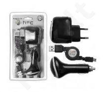 įkrovimo rinkinys mini USB universalus  220V+12V Telemax juodas