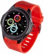 Smartwatch, Zegarek Sportowy Garett Multi 3 Czarno - Czerwony