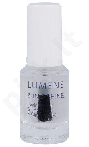 Lumene Gloss & Care 3-In-1  nagams Shine Caring Base & Top Coat, kosmetika moterims, 5ml
