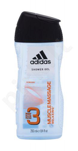 Adidas 3in1 Muscle Massage, dušo želė vyrams, 250ml