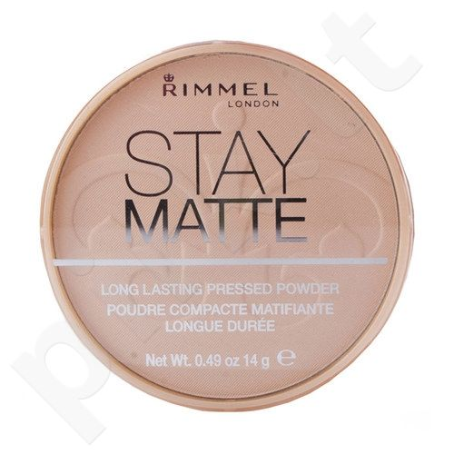 Rimmel London Stay Matte Long Lasting Pressed Powder, 14g, kosmetika moterims(009 Amber)