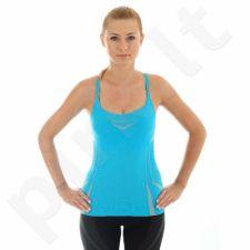 Marškinėliai Brubeck Fitness W CM10070 mėlyna