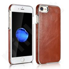 Genuine leather back cover case with metallic edges, brown (iPhone 7/8)